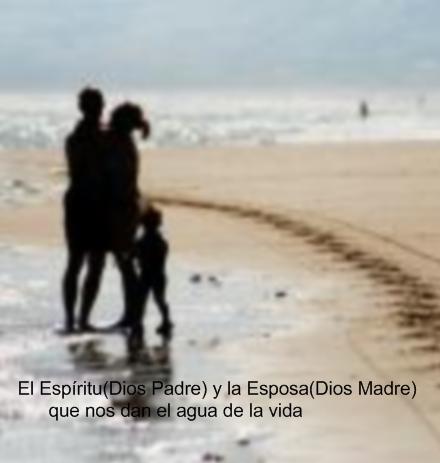 El Espíritu(Dios Padre) y la Esposa(Dios Madre) que nos dan el agua de la vida